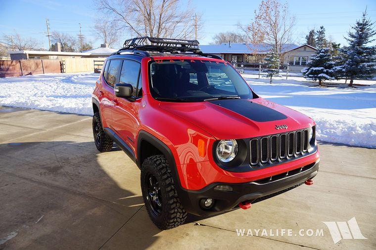 Jeep Renegade Trailhawk Daystar 1 5 Lift 225 75r16 Cooper Discoverer Stt Pros Pics Jeep Renegade Jeep Renegade