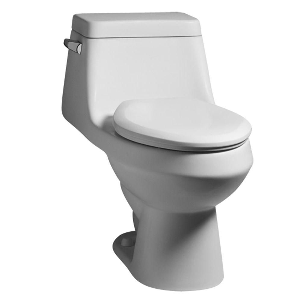 American Standard Fairfield 1-piece 1.6 GPF Single Flush Elongated ...