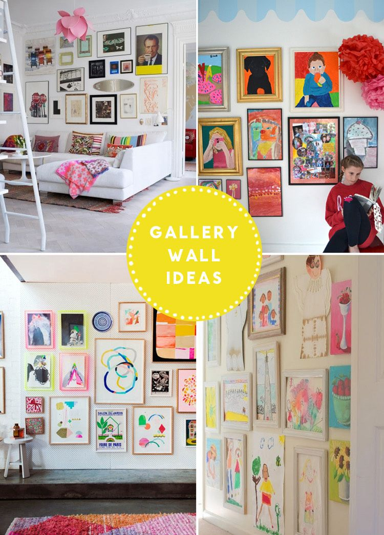 Gallery Wall // Children\'s Art | Wall ideas, Gallery wall and Walls