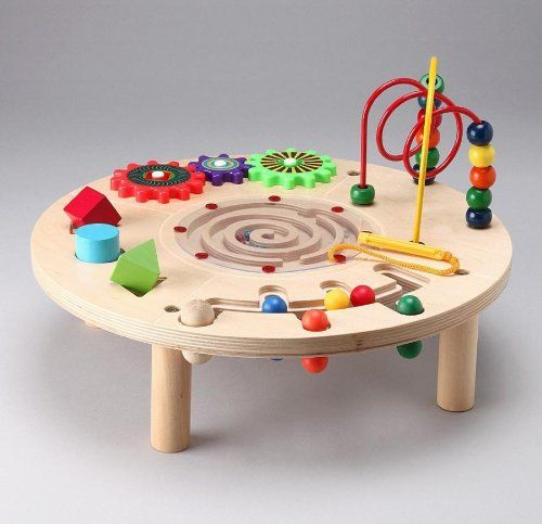 Amazoncom Circle Activity Center Wooden Play Table Toys Games