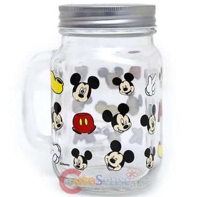 Disney Mickey Mouse Mason Jar With Handle
