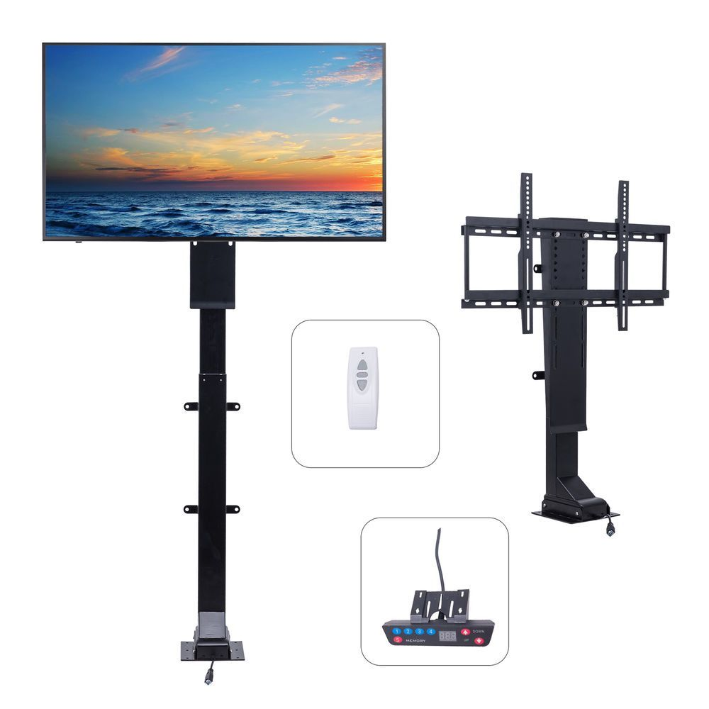 New 3270 Tv Wall Mount Double Armmotorized Tv Lift Stand W