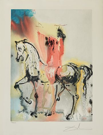 "Salvador Dali, ""Les Chevaux des Daliniens: Le che... / Grafikk / Nettauksjon / Blomqvist - Blomqvist Kunsthandel"