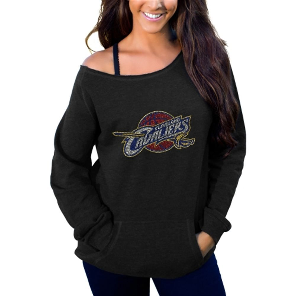 Women's Cleveland Cavaliers Cuce Black Sideliner II Off The