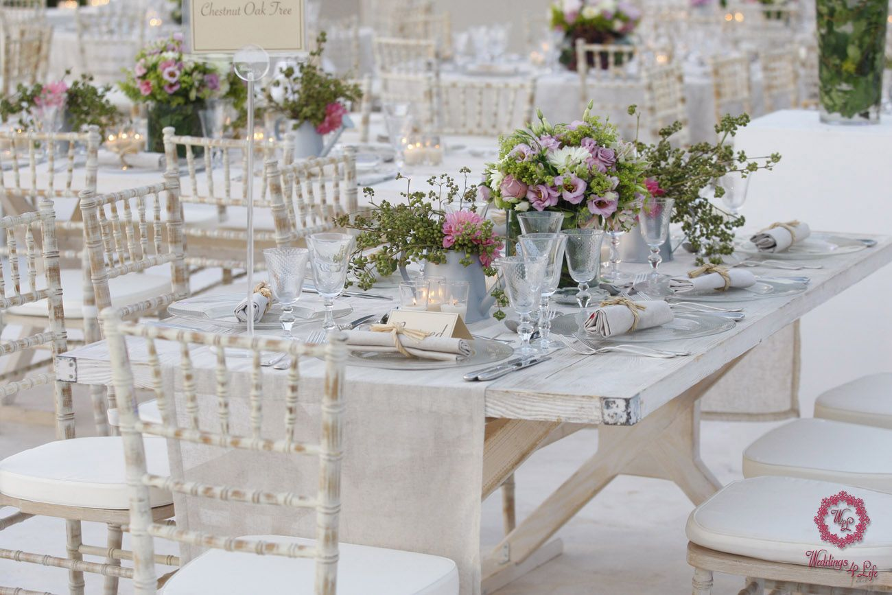 White Wooden set up  #Weddings #Lebanon #Tanit