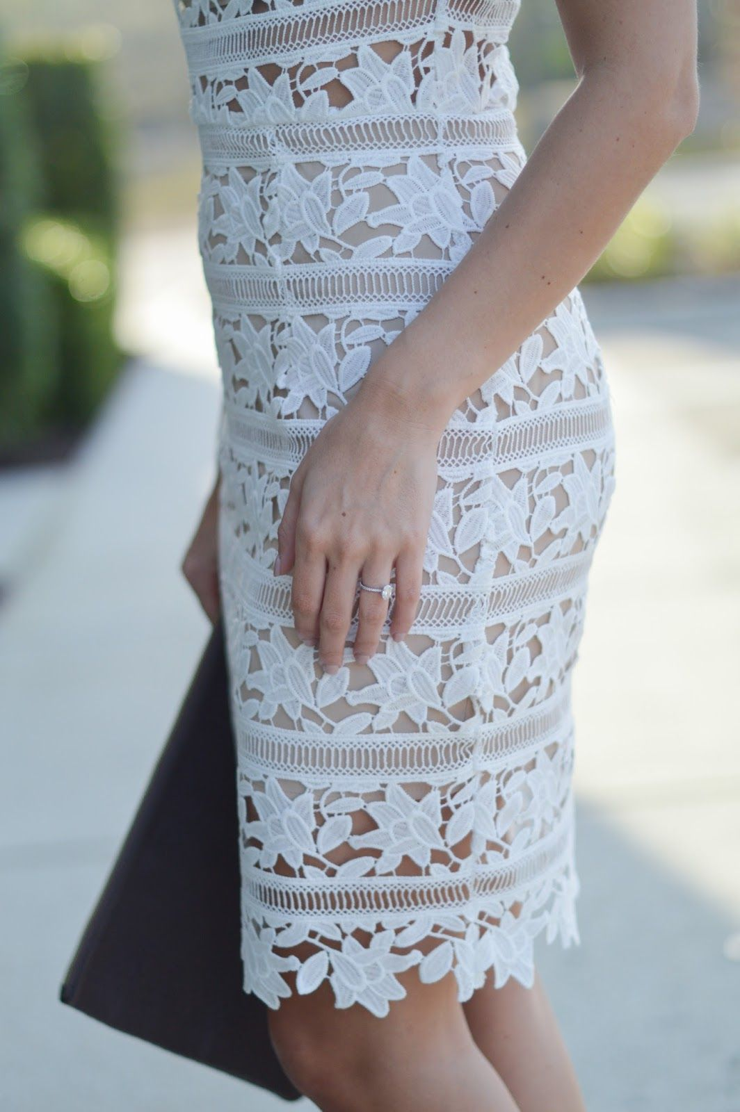 White Lace | Engagement party dresses, White lace and Shower dresses