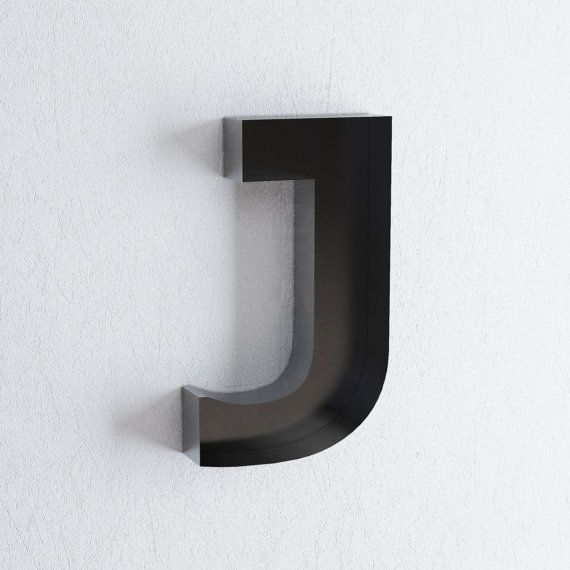 J Sign Letter  Wall Decor  Metal Letters For Home Styling  D
