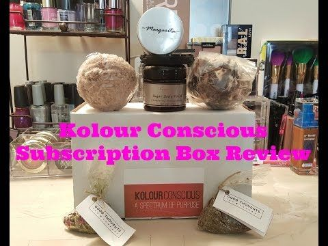 Kolour Conscious Subscription Box Review - YouTube