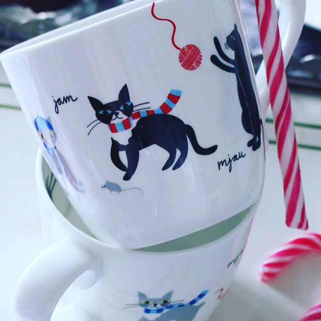 Cat mug from Emelie ek design