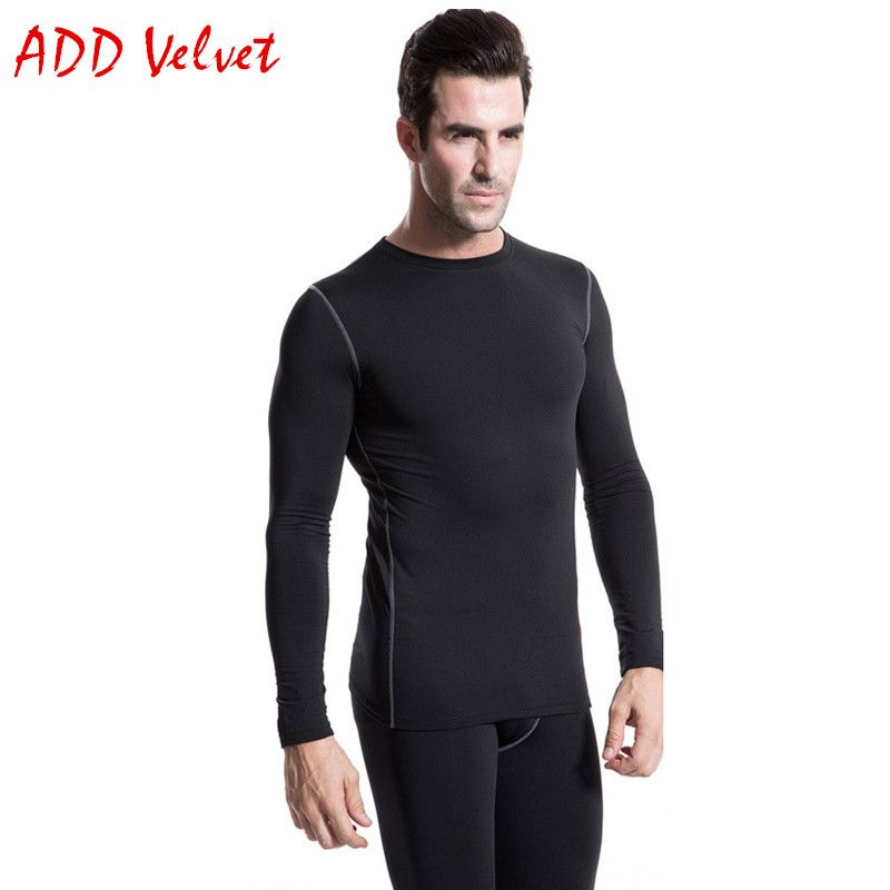 Mens Compression Shirt Full Sleeves Top Base Layer Cold Weather Running