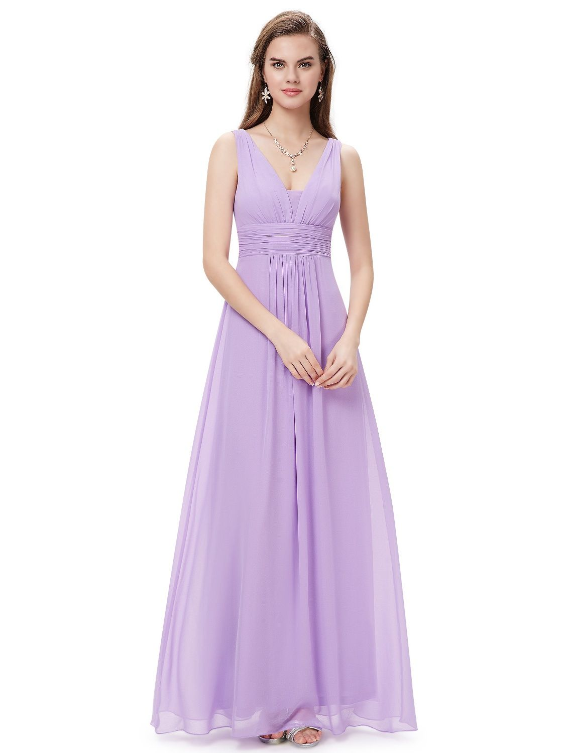 2affc5ac72 Ever-Pretty Women's Elegant Long Maxi V Neck Chiffon Evening Cocktail Prom  Party Bridesmaid Wedding