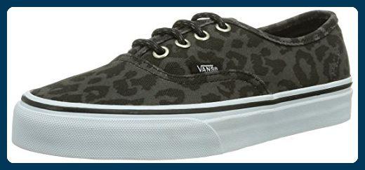 Vans U AUTHENTIC (WAXED) LEOPARD, Unisex-Erwachsene Sneakers, Schwarz ((