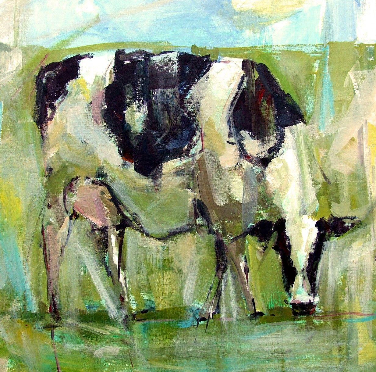 Fine watercolor art for sale - Daily Paintworks Grazin Original Fine Art For Sale Gina Brown