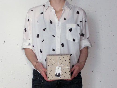 Stempeldruck auf Bluse und Hemd