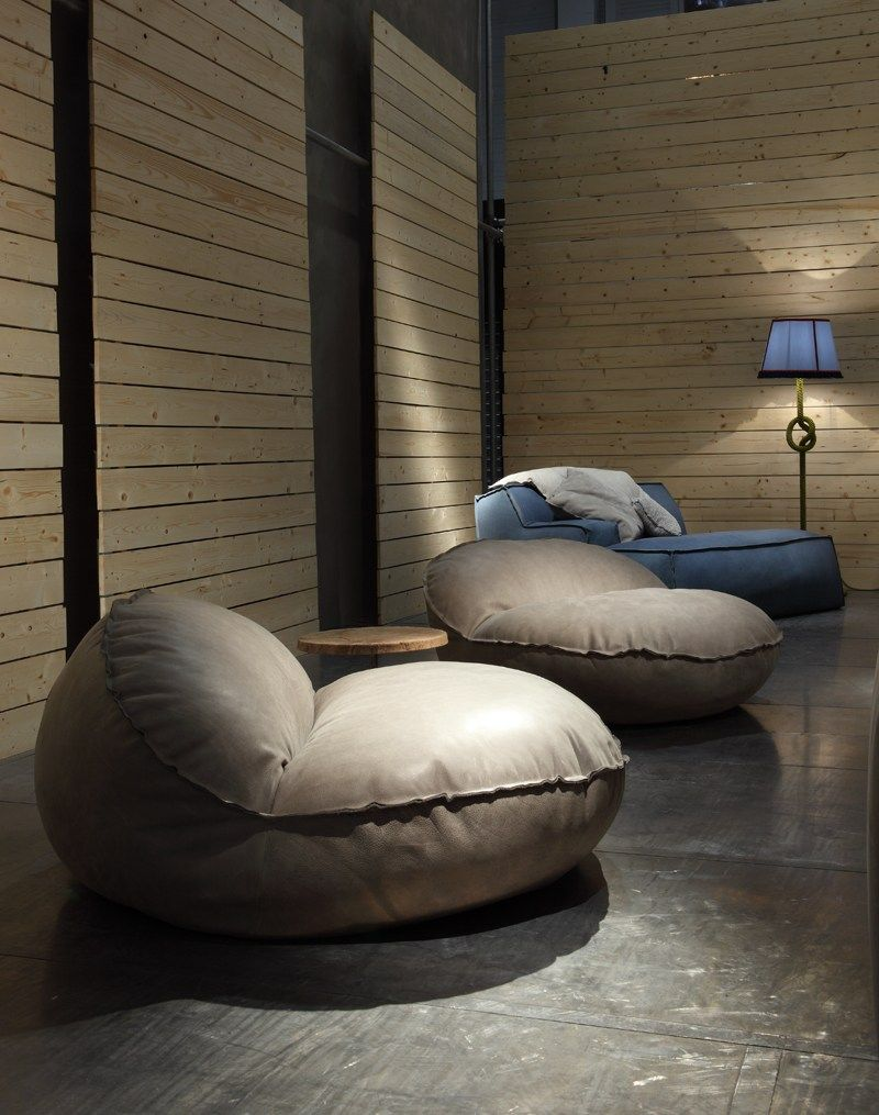 Leather bean bag MONTREAL - BAXTER | Furniture design | Bean ...