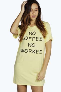 0b6cc2f6c801 Amelie No Coffee No Work Night Dress