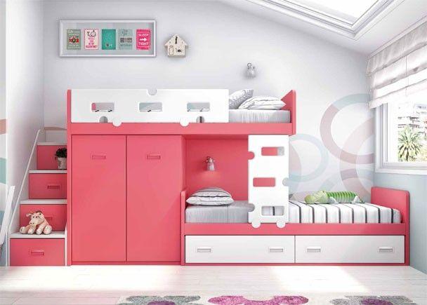 Habitaci n infantil camas tren en coral y blanco habitaciones infantiles pinterest - Habitacion infantil tren ...
