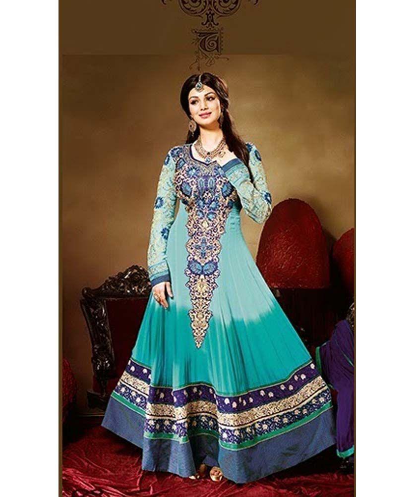 Ayesha #Takia #Sky #Blue #Of #Anarkali #Suit (RN Ayesha 9885 ...