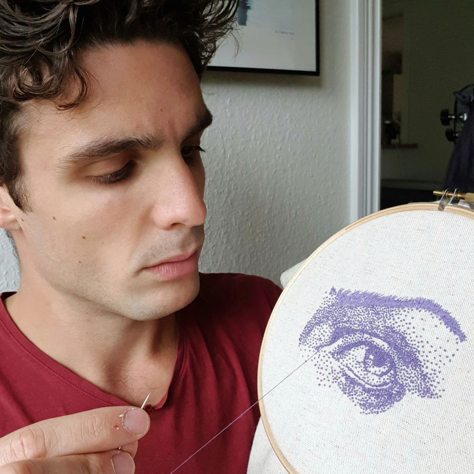 how to do a french knot for eyes