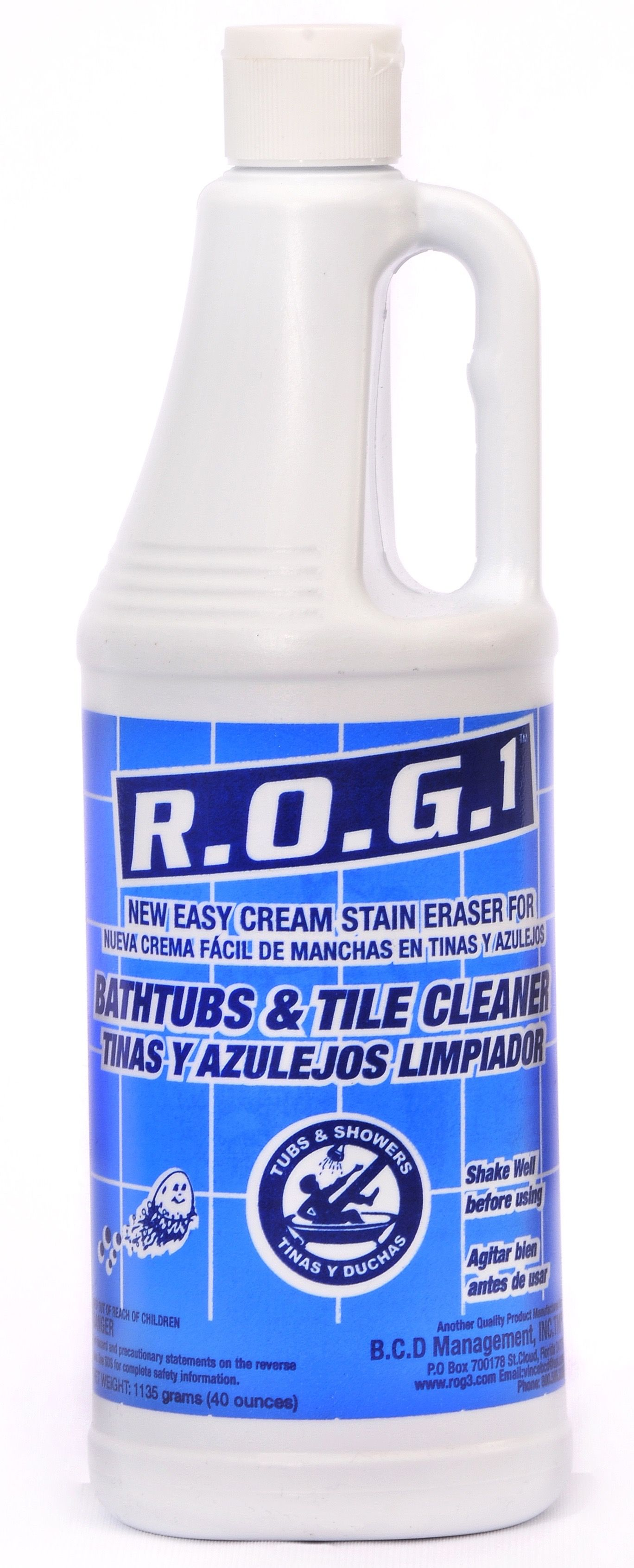 R0G1 cream cleaner for tough stains in Bathtub bottoms especially ...