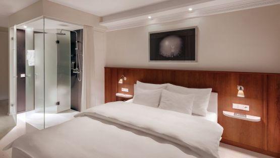 Genial Idee Schlafzimmer Modernes Wohndesign Stuckleisten Indirekte Beleuchtung  Offenes Bad