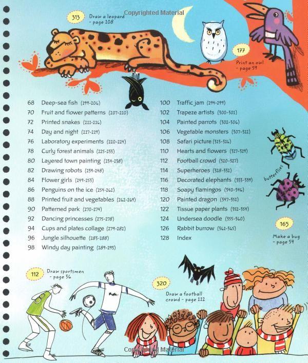 365 Things To Draw And Paint Activity Books Fiona Watt 9780794527075 Amazon Com Books Book Activities Painting Draw