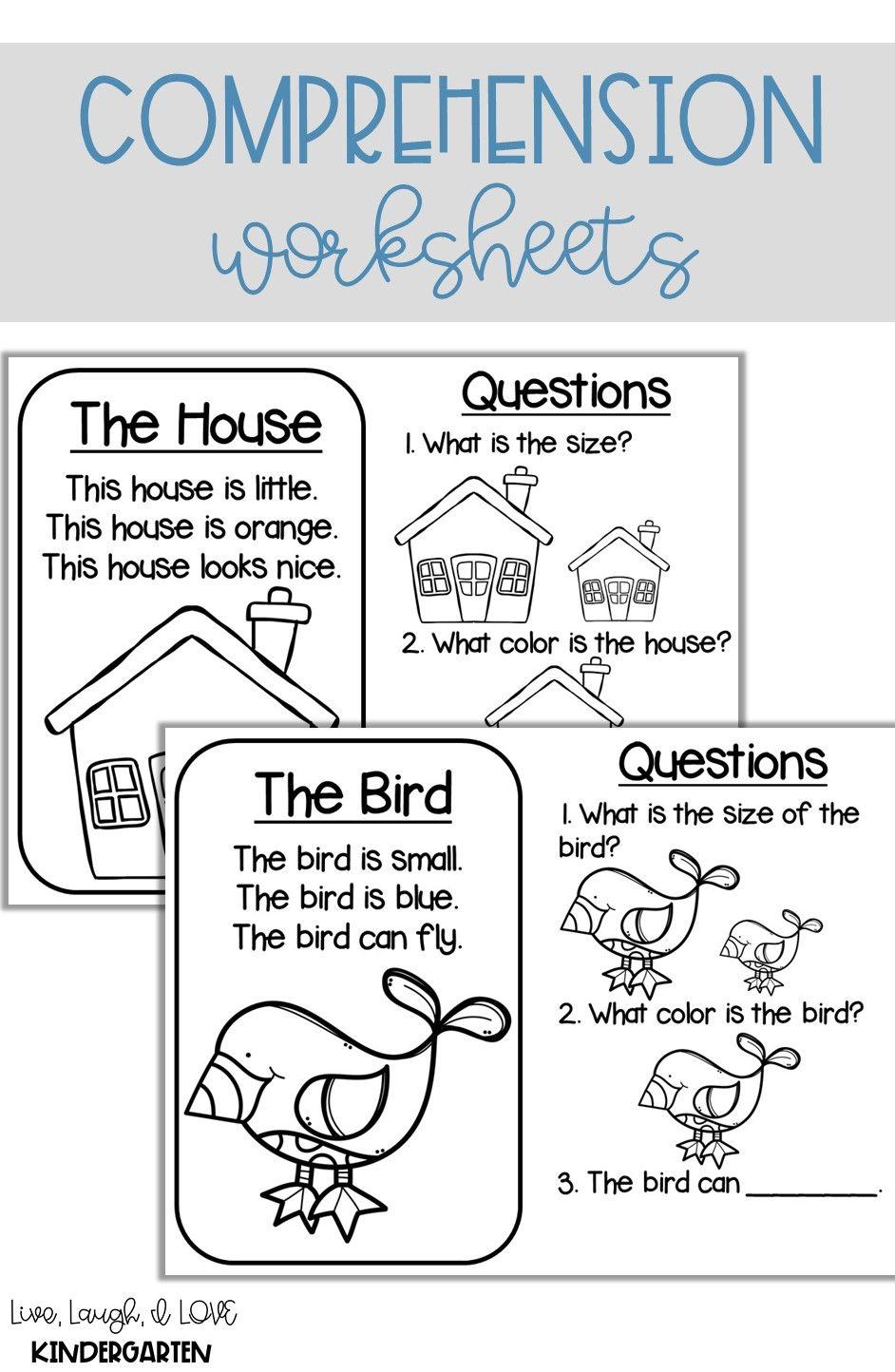 Kindergarten Comprehension Kindergarten Comprehension Worksheets Kindergarten Comprehension Comprehension [ 1444 x 942 Pixel ]