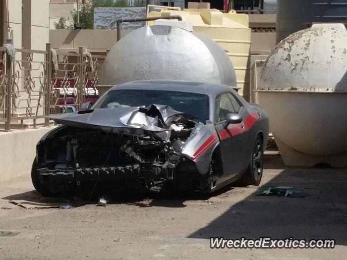 Dodge Challenger Crashed In Kuwait Dodge Challenger Challenger