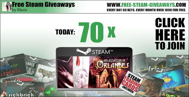Get Free Steam Key 70x An Assassin in Orlandes http://www.free-steam-giveaways.com/get-free-steam-key-70x-an-assassin-in-orlandes/