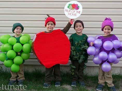 Haz tu disfraz de fruta casero fresa manzana pi a - Disfraces de pina para ninos ...