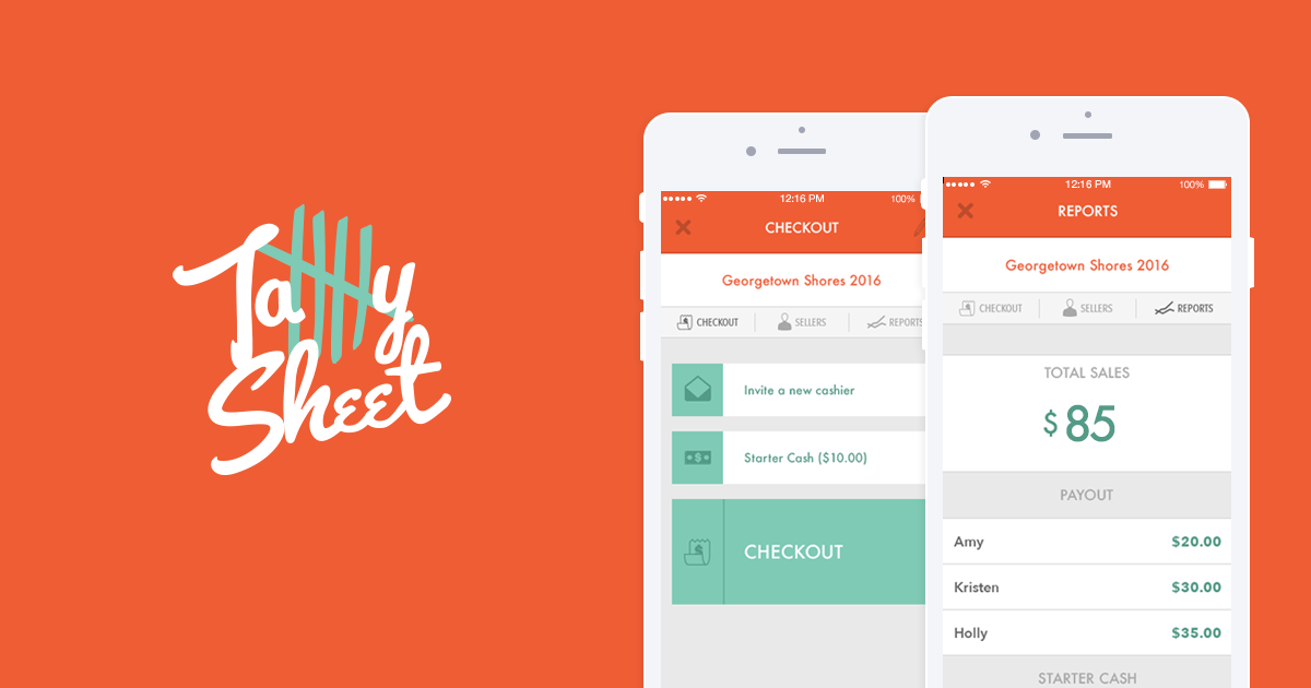 Keep Track Of Your Sale S Tally Sheet In Real Time Enable Everyone Helping To Be A Cashier With Their Own Phones Garage Sale App Garage Sales Garage Sale Tips