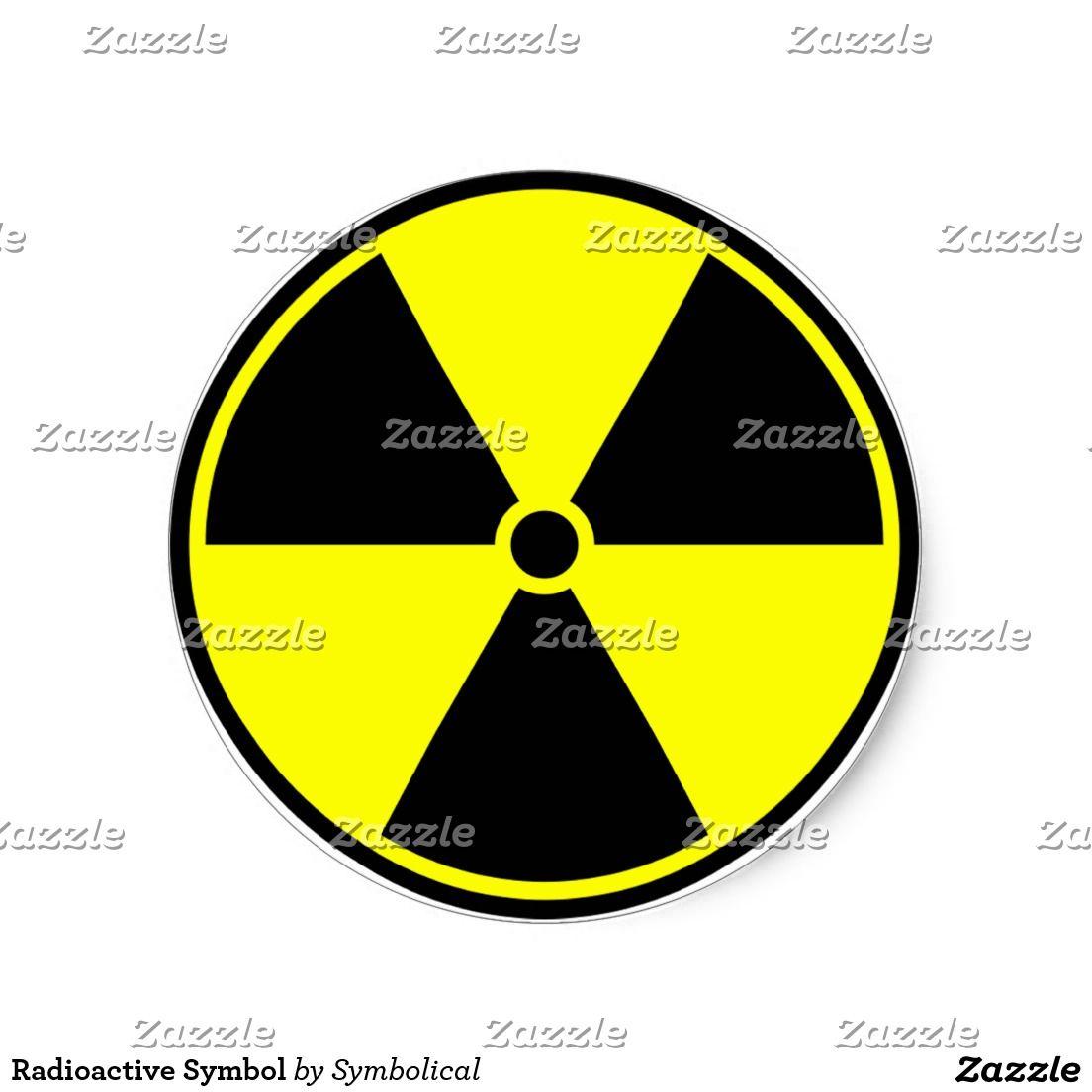 Radioactive Symbol Classic Round Sticker by #Symbolical # ...