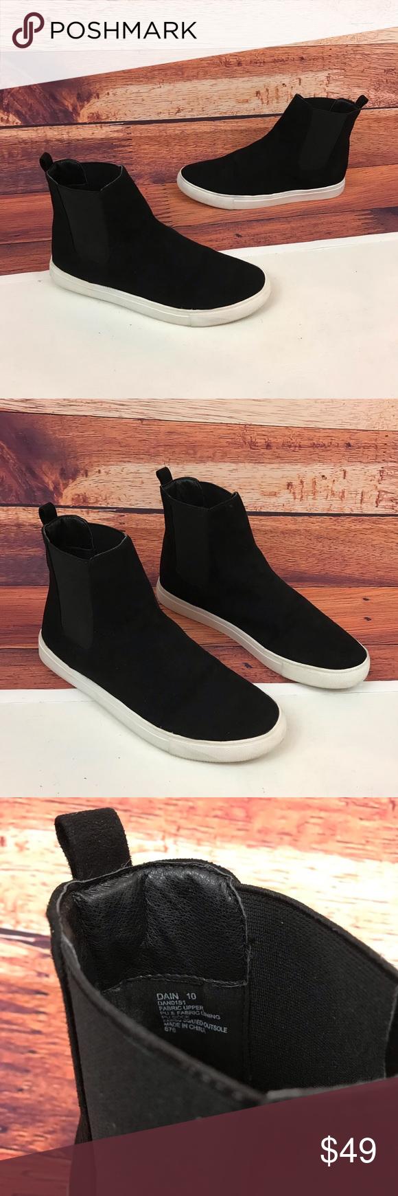 0cec404d68d Steve Madden Dain Black High Top Sneakers Size 10 Steve Madden Dain ...