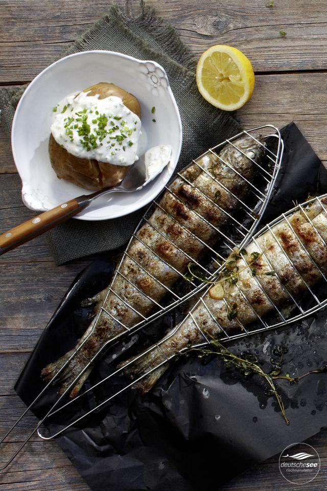 Gegrillte Forelle mit Baked Potatoe Grillrezepte Pinterest - leichte mediterrane k che rezepte