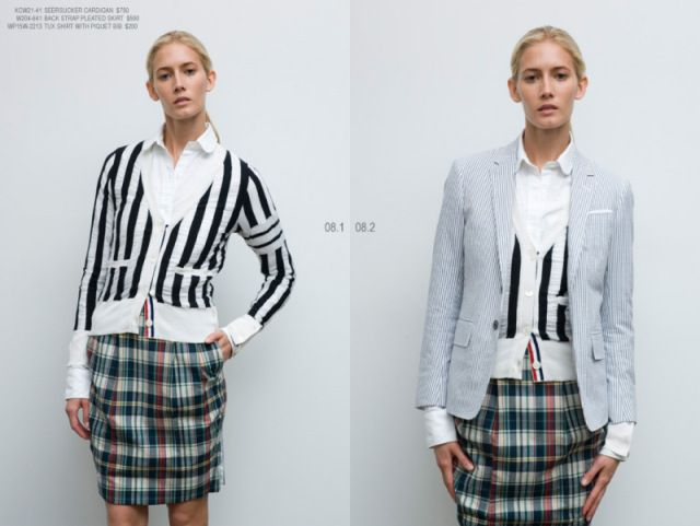 Thom Browne Spring/Summer 2008 womenswear collection: hyperstrike