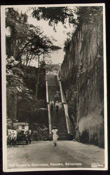 The Queen S Staircase Nassau Bahamas Postcard C77