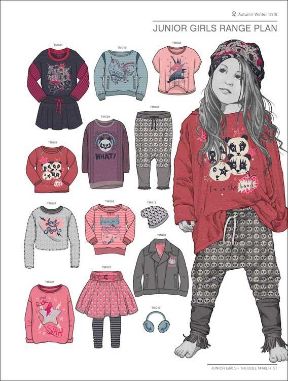 Style Right Kidswear Trendbook A W 2017 2018 Incl DVD