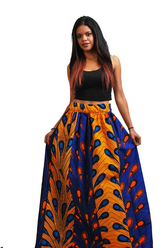 cebecb0642 ankara style maxi skirt with color block strips 2.5