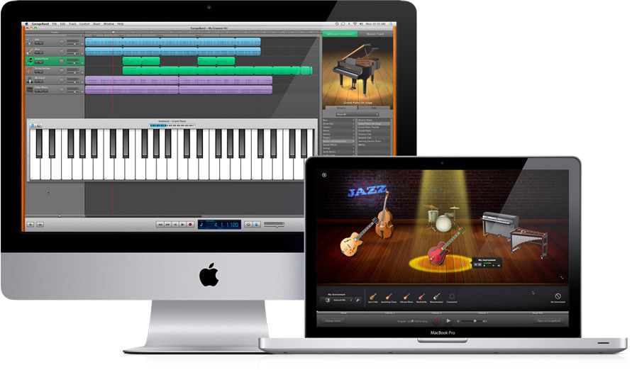 A website showing what GarageBand is, a useful, cheap and