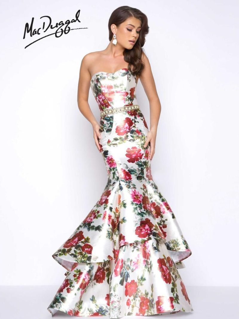 Check Out The Deal On Mac Duggal 66029m Floral Print Mermaid Prom Dress At French Novelty Tiered Prom Dress Prom Dresses Mermaid Prom Dresses [ 1065 x 800 Pixel ]