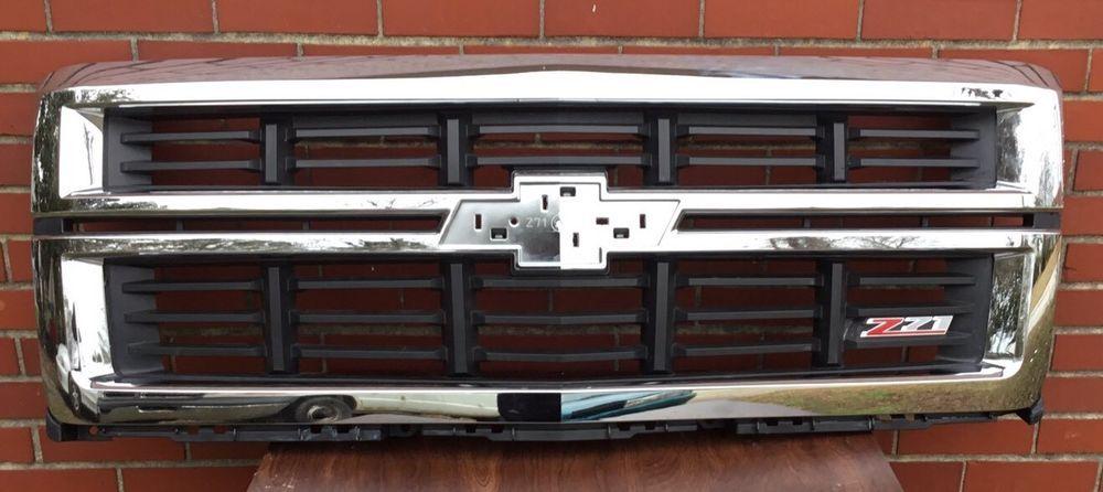 2014 2015 Silverado 1500 Z71 Chrome Grille Factory Oem Grill