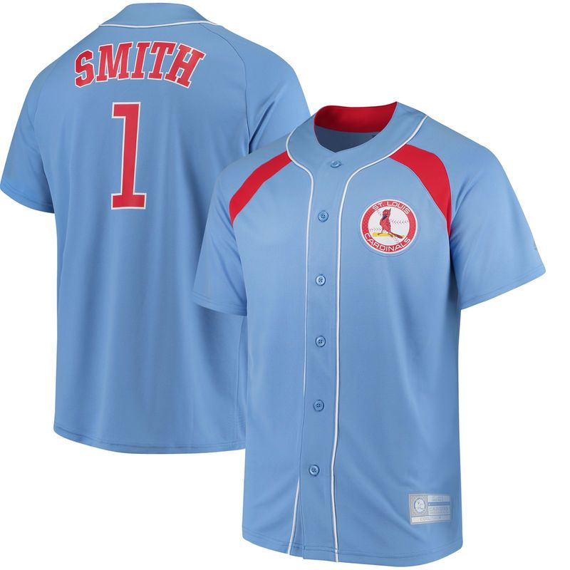 fb7ead830 Ozzie Smith St. Louis Cardinals Majestic Cooperstown Collection Peak Power  Fashion Player Jersey - Light Blue/Red