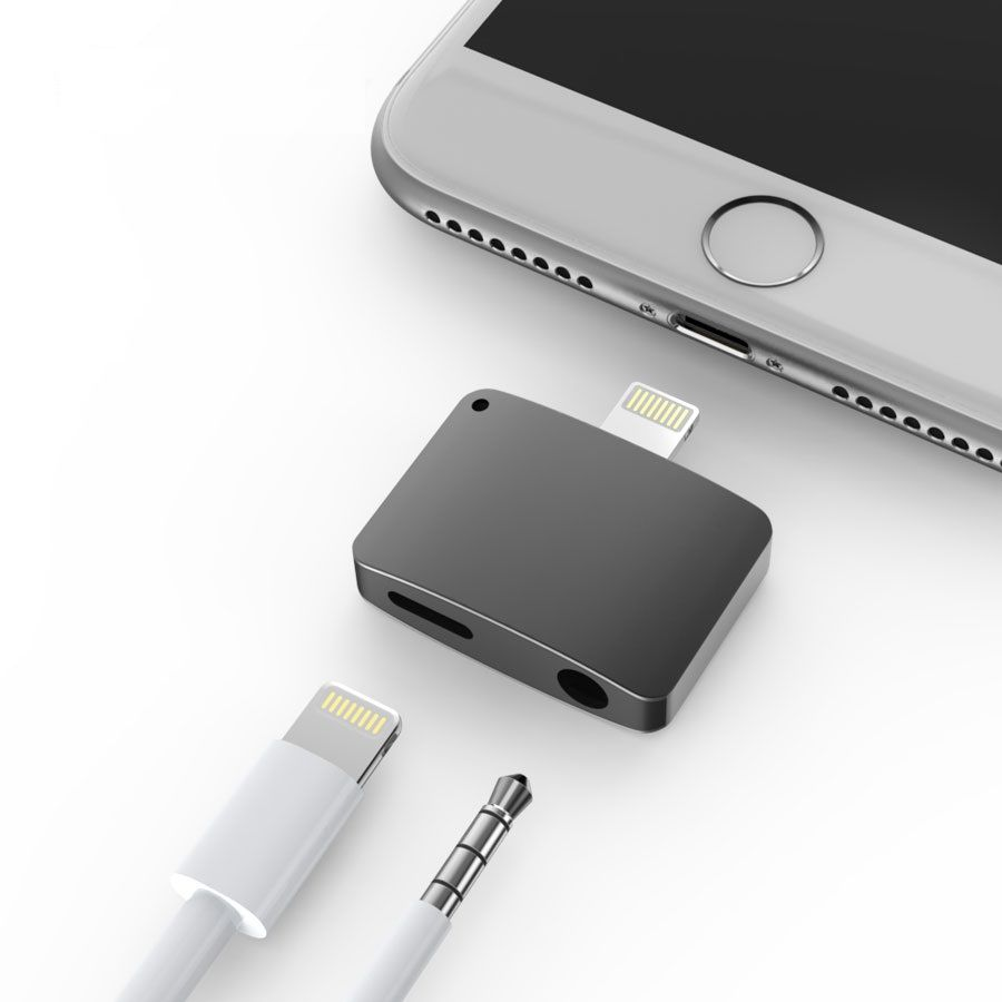 Iphone 7 7 Plus Lightning Port To Headphone Jack And Lightning Port Adapter Retailite Iphone 7 Adapter Iphone 7 Iphone Gadgets