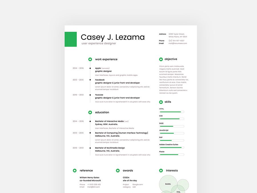 Lezama is free clean resume template with cover letter for your next