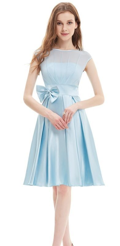 HEPBURN Baby Blue 50\'s Vintage Inspired Prom Evening Bridesmaid ...