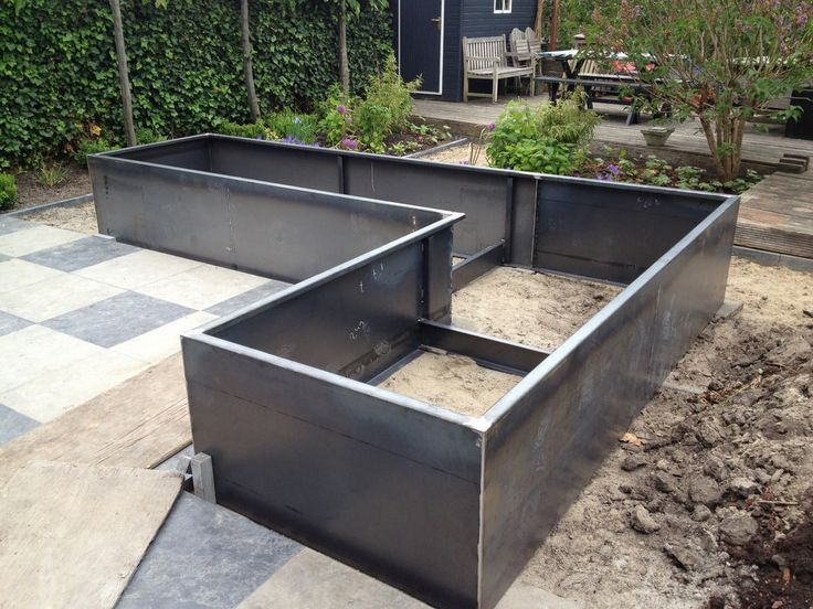 Garden Design Photo Album Category Borders Steel Garden Cortenstaal En 2020 Jardin Sureleve Decor De Jardin Diy Mobilier Jardin