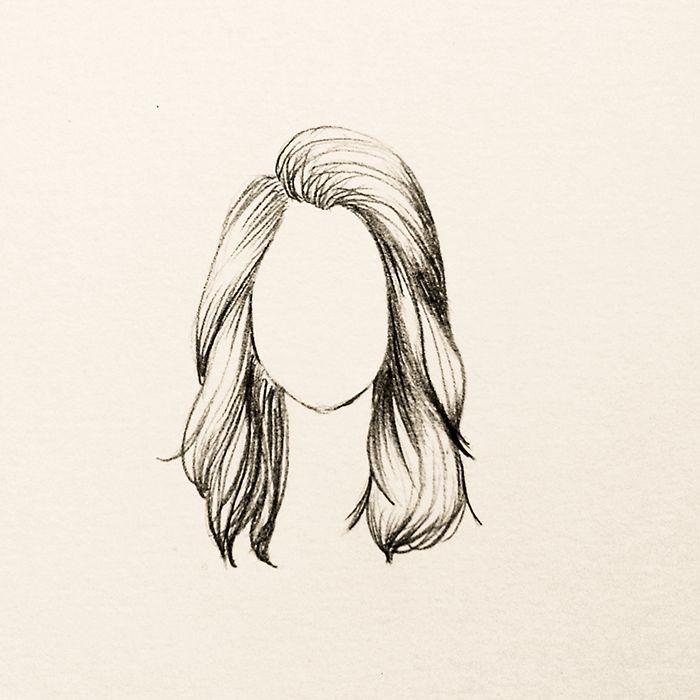 Cabelo Ondulado Desenhos De Penteados Cabelo Desenho Desenho
