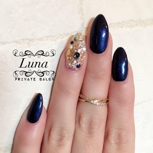 冬/ブライダル/パーティー/クリスマス/ハンド , Luna*private salonのネイルデザイン[No.1884406]|ネイルブック
