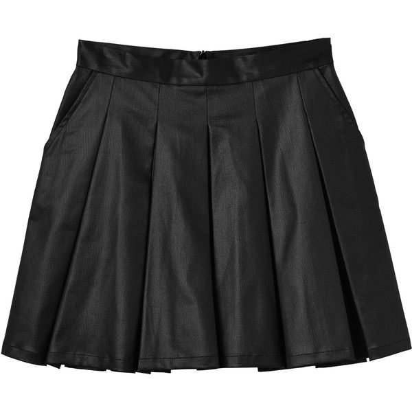 f3d05e6a75 Monki Emilou skirt (£18) ❤ liked on Polyvore featuring skirts, bottoms,  clothes - skirts, glowing shadow, shiny pleated skirt, a-line skirt, short  skirts, ...