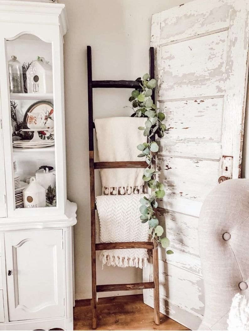 Pre Order 6 Ft Black Dipped Blanket Ladder Etsy In 2020 Blanket Ladder Decor Wooden Ladder Decor Ladder Shelf Decor